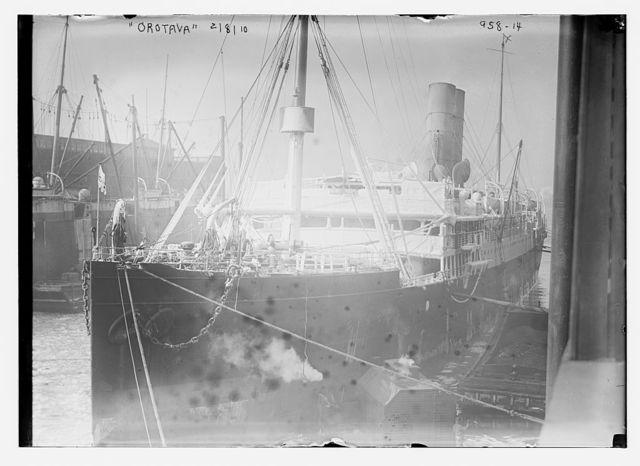 Orotava at dock in New York Harbor