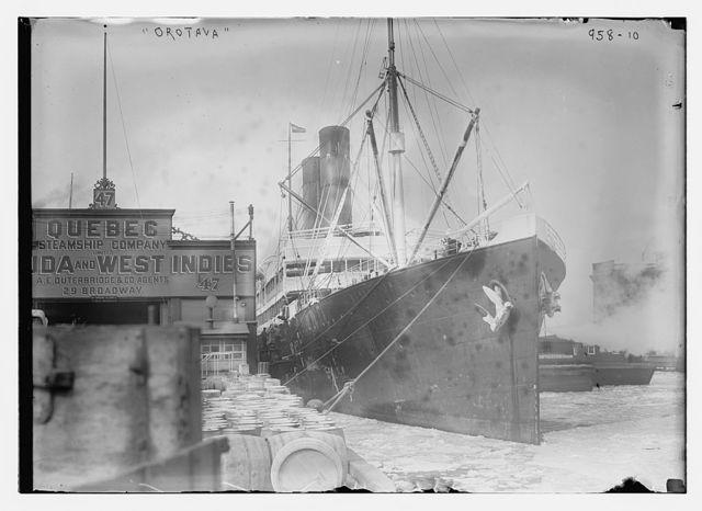 Orotava at dock in New York Harbor, New York