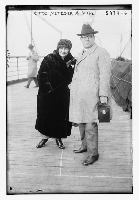 Otto Metzger and wife