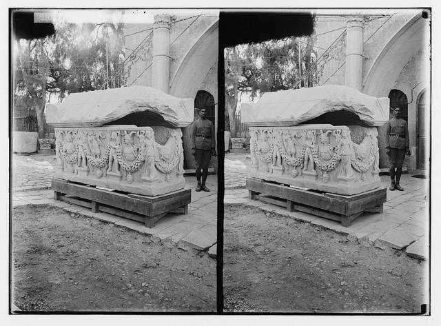 Palestine Government Museum. Sarcophagus of Caesarea