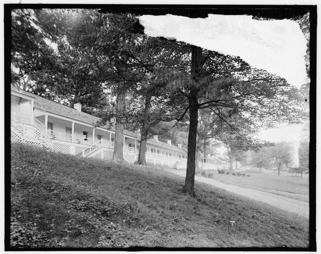 [Paradise row, White Sulphur Springs, West Va.]
