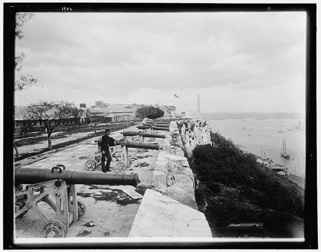 Parapet of Cabanas Castle, Havana
