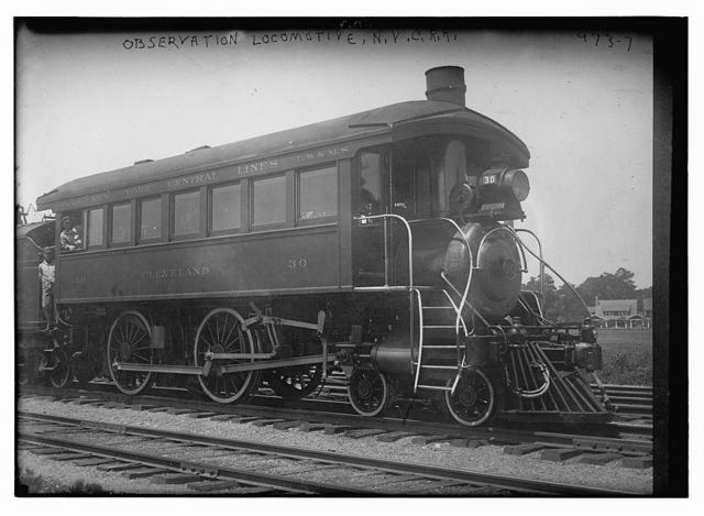 Passenger (observation) locomotive train car of New York Central RR