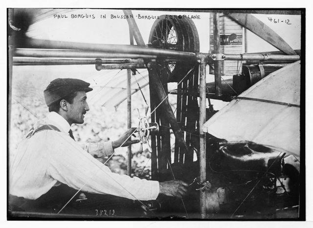 Paul Borguis in Bousson Borguis aeroplane