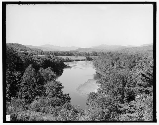 [Pemigewasset Valley and Franconia Mountains from West Campton, West Campton, N.H.]]