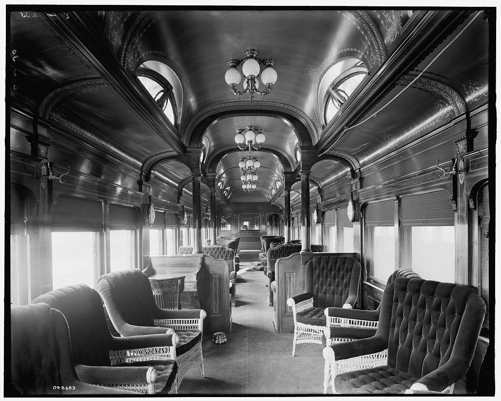 [Pere Marquette Railroad parlor car no. 30]