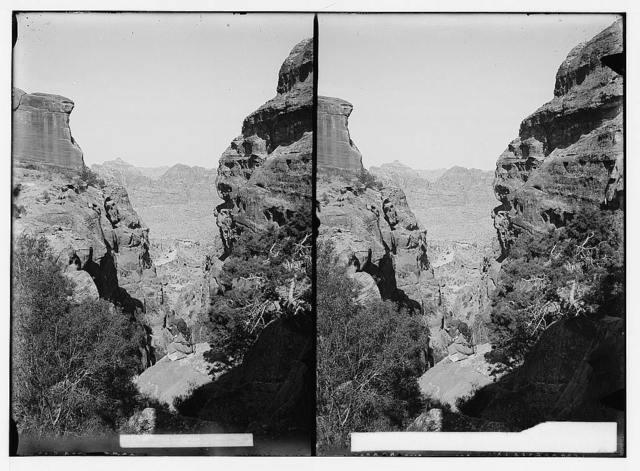 Petra in Transjordan. Deep gorge en route to place of sacrifice
