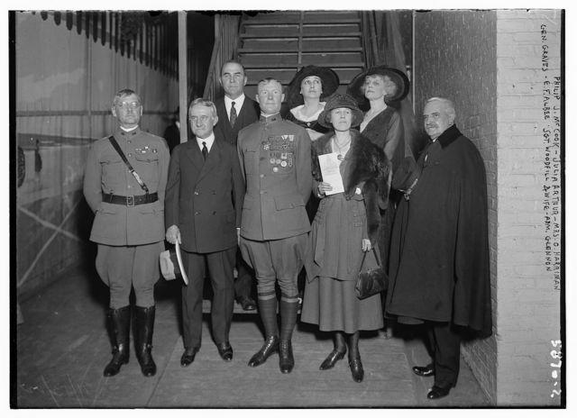 Philip J. McCook, Julia Arthur, Mrs. O. Harriman, Gen. Graves, E.F. Albee, Sgt. Woodfill, (and wife), and Adm. Glennon