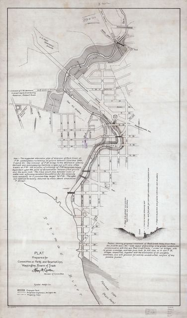 Plat prepared for Committee on Parks and Reservations, Washington Board of Trade : [Rock Creek and Potomac Parkway, Washington D.C.] /