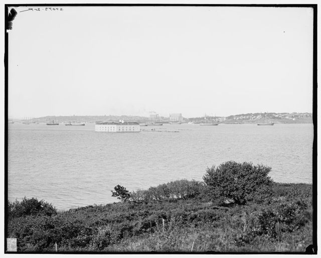 [Portland & Fort Gorges from Little Diamond Island, Maine]