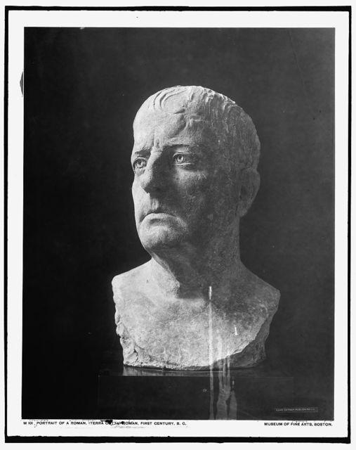 Portrait of a Roman, (terra cotta), Roman, first century B.C.