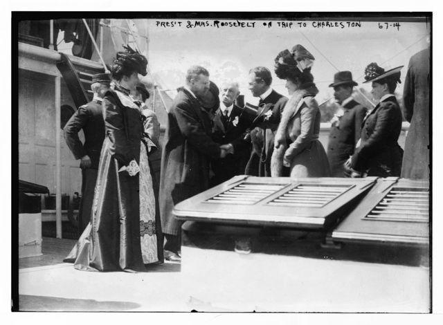 President and Mrs. Roosevelt in Charleston