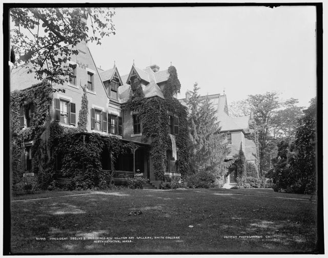 President Seelye's residence and Hillyer Art Gallery, Smith College, Northampton, Mass.