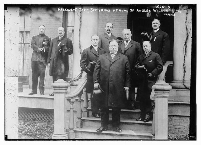 President Taft, Sec'y Knox at home of Ansley Wilcox, Buffalo