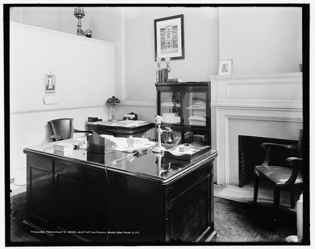 President's room, 34th St. National Bank, New York City