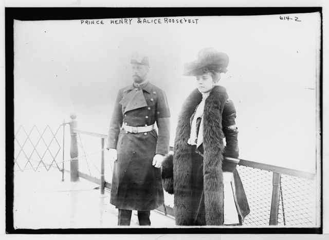 Prince Henry and Alice Roosevelt on deck of boat