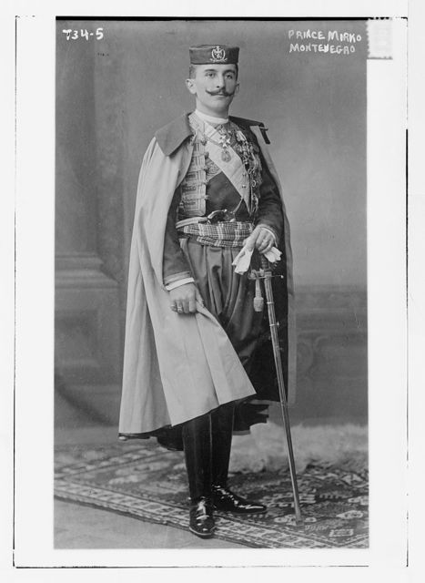 Prince Mirko, Montenegro, in uniform