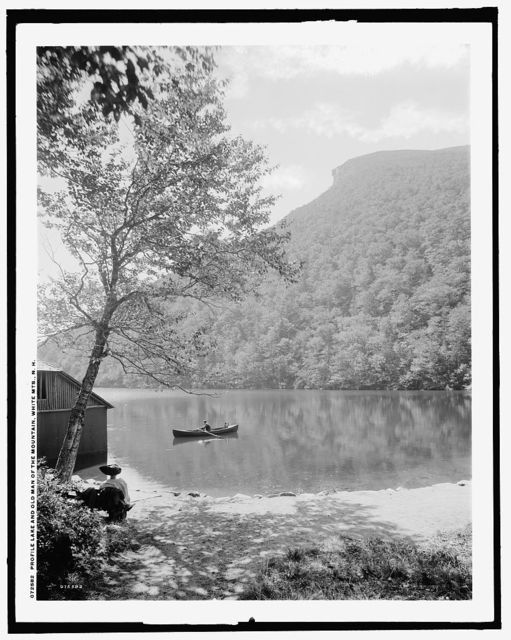 Profile Lake and Old Man of the Mountain, White Mts., N.H.