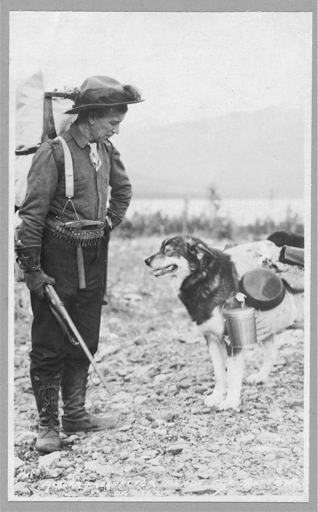 Prospector and dog ready for the summer trail