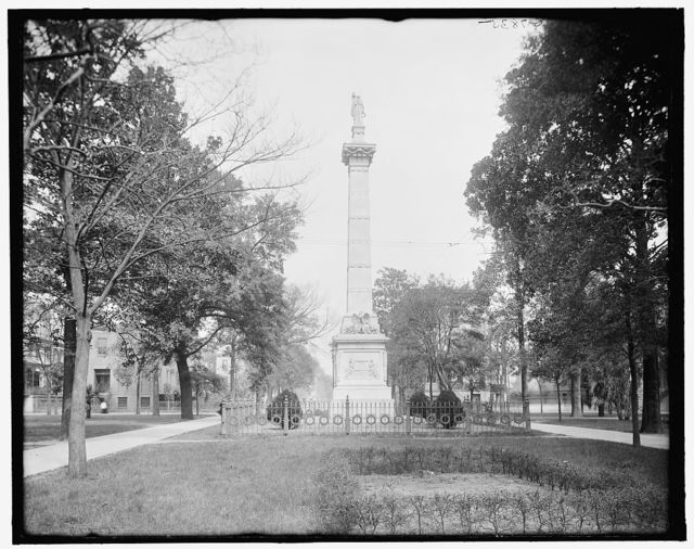 [Pulaski Monument and Monterey Square, Savannah, Ga.]