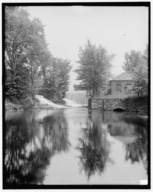 [Pump house & dam, South Hadley, Mass.]