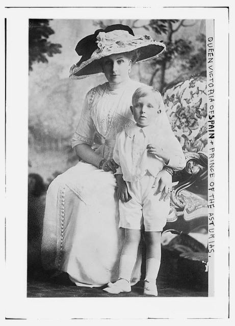 Queen Victoria of Spain and Prince of the Austrias