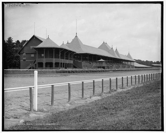 Race course, Saratoga, N.Y.