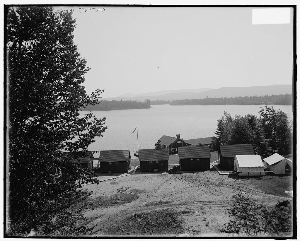 [Raquette Lake from the Antlers, Adirondack Mtns., N.Y.]