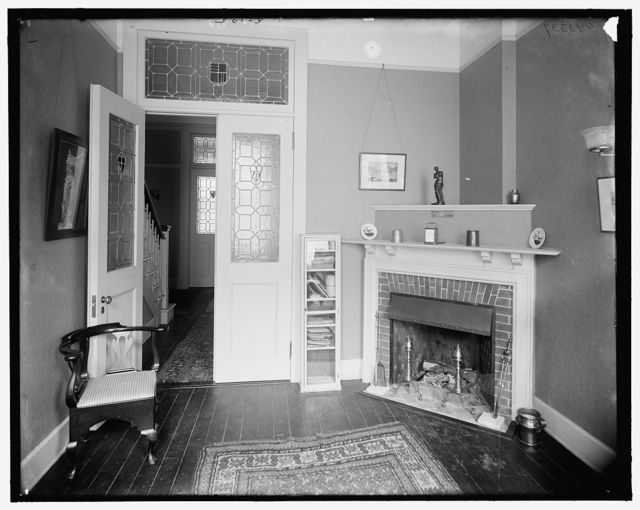 [Reception room, probably in a clubhouse, New York City]