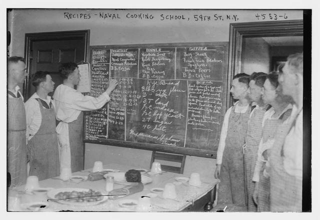 Recipes -- Naval cooking school 59th St., N.Y.