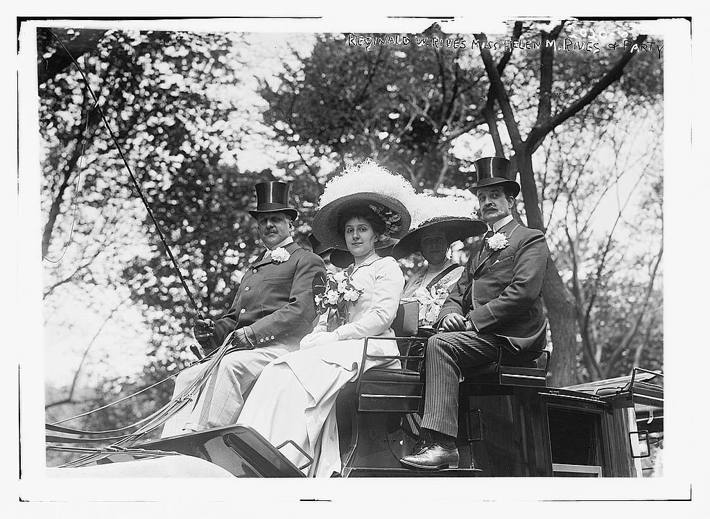 Reginald W. Rives, Miss Helen M. Rives & party