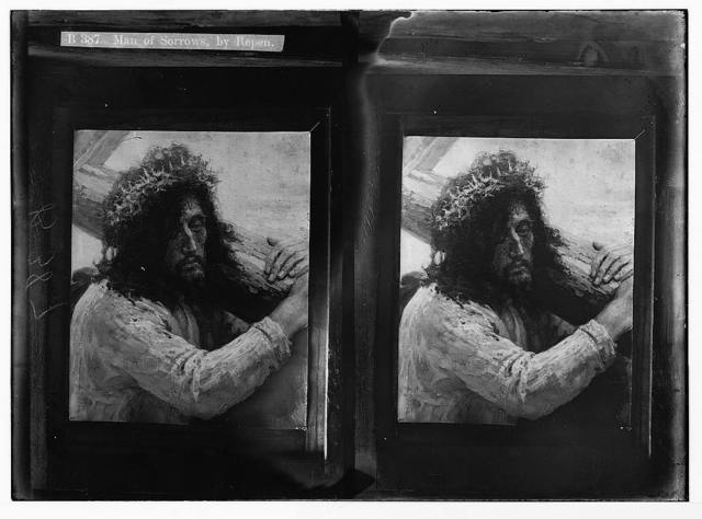 Religious paintings in Palestine. Man of sorrows, by Repen