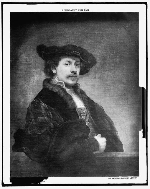 [Rembrandt, half-length self-portrait]