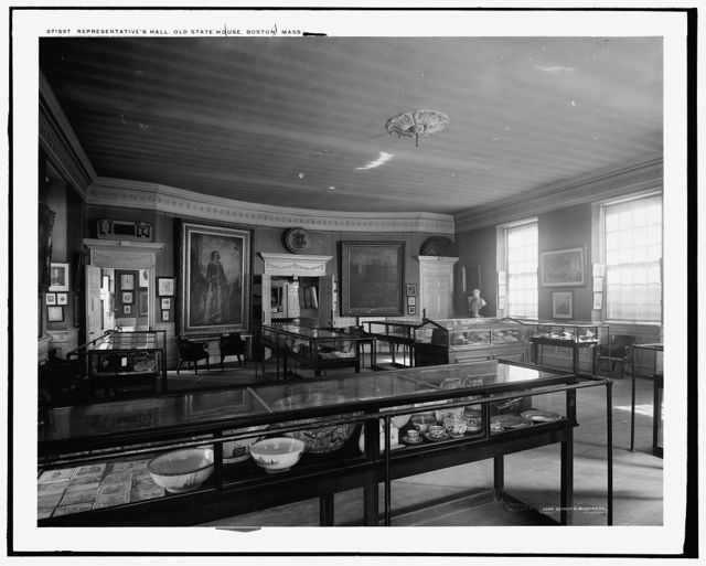 Representatives' Hall, looking east, Old State House, Boston, Mass.