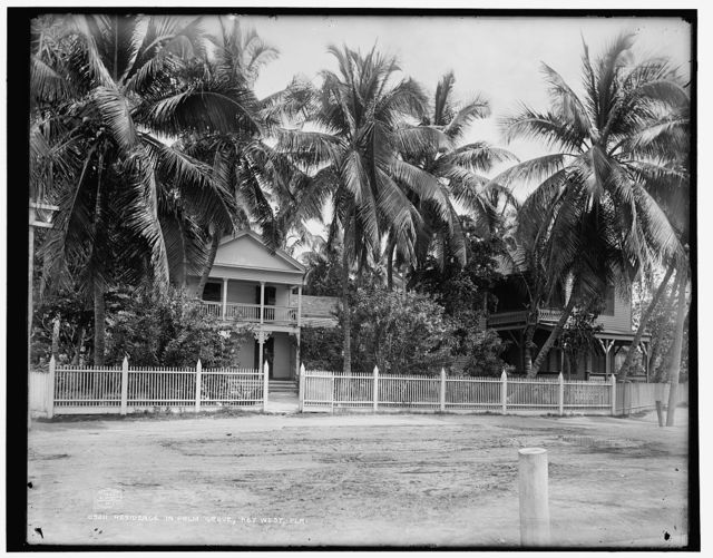 Residence in palm grove, Key West, Fla.