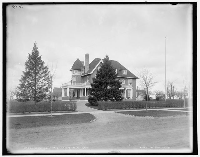 Residence of Dr. J.H. Lancashire, Alma, Mich.