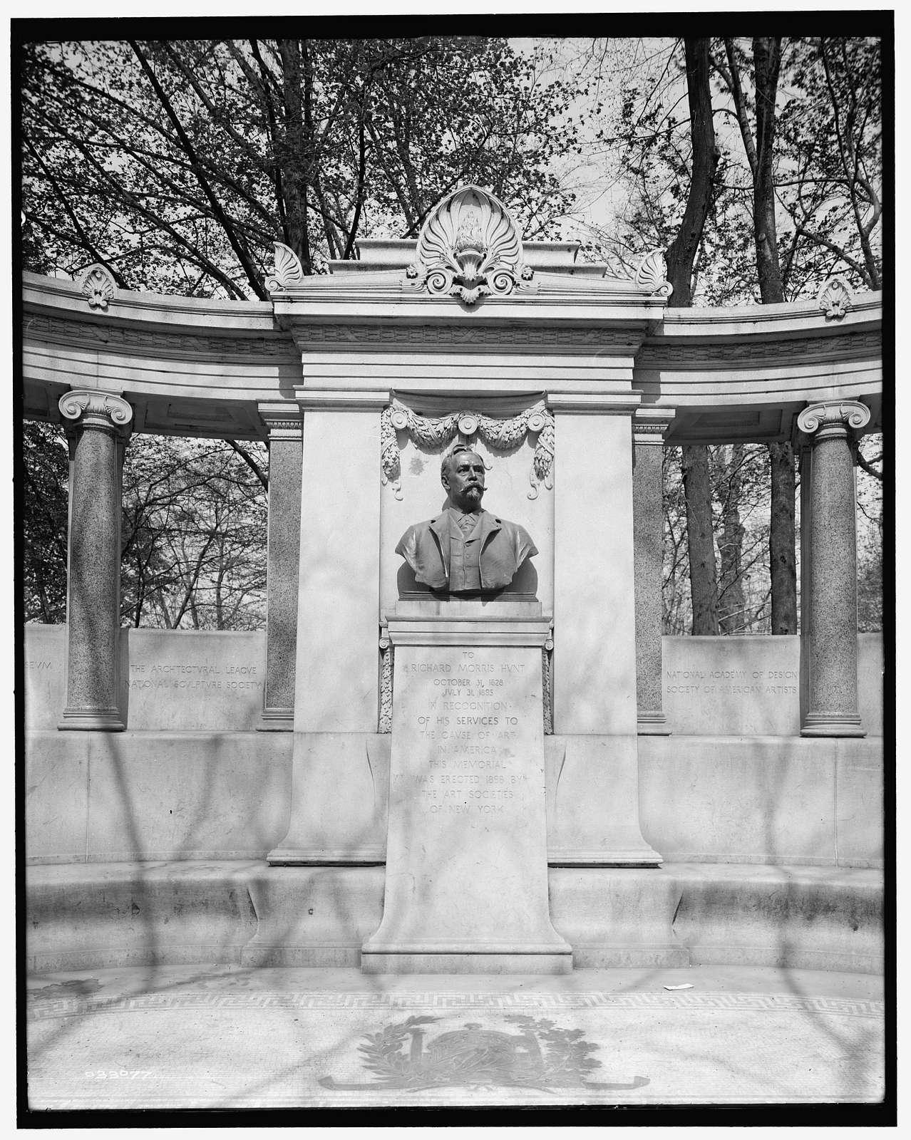 Richard Morris Hunt Monument, New York, N.Y.