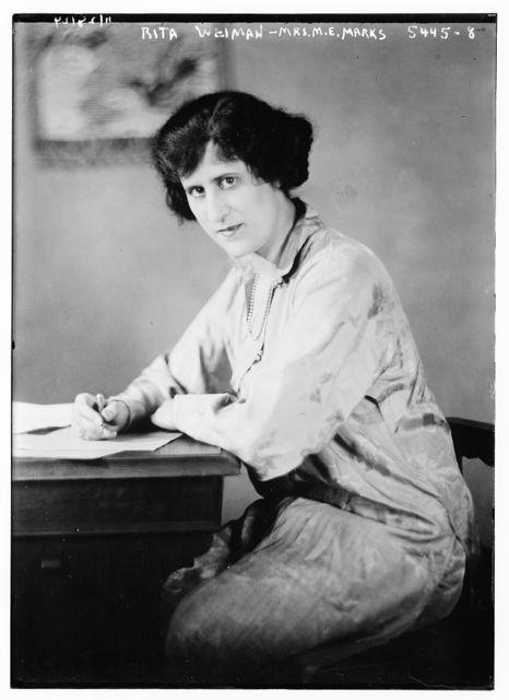 Rita Weidman, Mrs. M.E. Marks