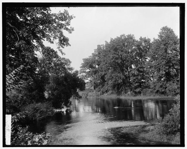 [River, probably the Huron River, Ypsilanti, Michigan]