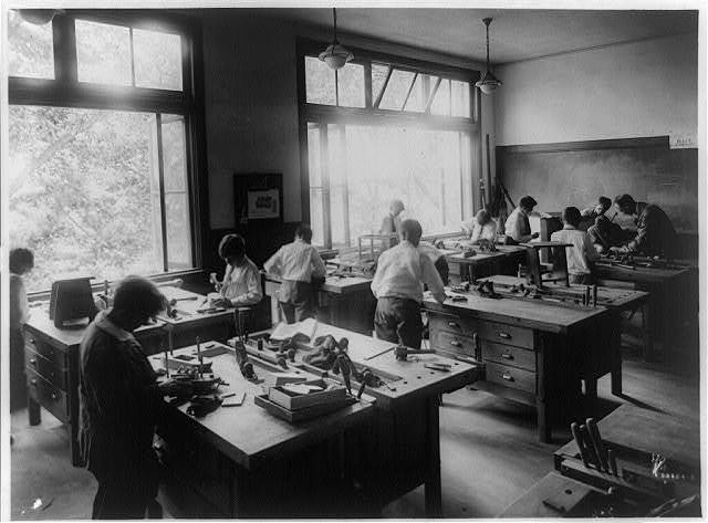 Riverdale Country School, New York City - Manual Training Room