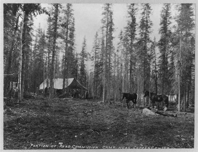 Road Commission camp near Copper Center