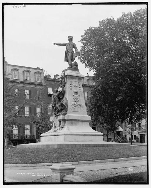 Rochambeau statue, Lafayette Park [i.e. Square], Washington, D.C.