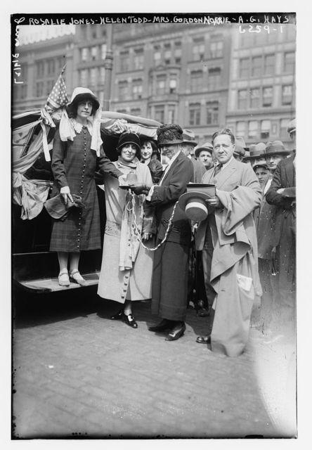 Rosalie Jones, helen Todd, Mrs. Gordon Norrie, A.G. Hayes