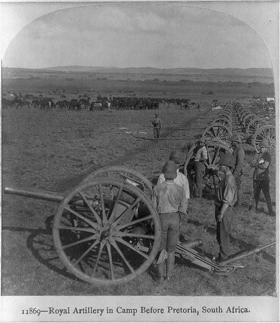 [Royal Artillery in camp before Pretoria, South Africa]