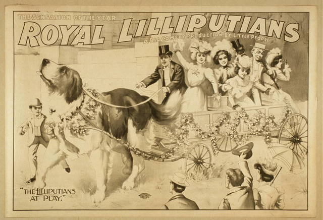 Royal Lilliputians, the sensation of the year a big comedy production by little people.