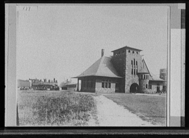 R.R. Station & steamer dock, Muskegon