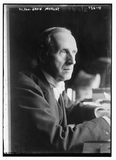 Rt. Hon. John Morley, seated at desk