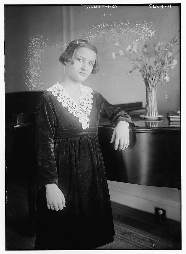 Rubinstein [standing at piano]