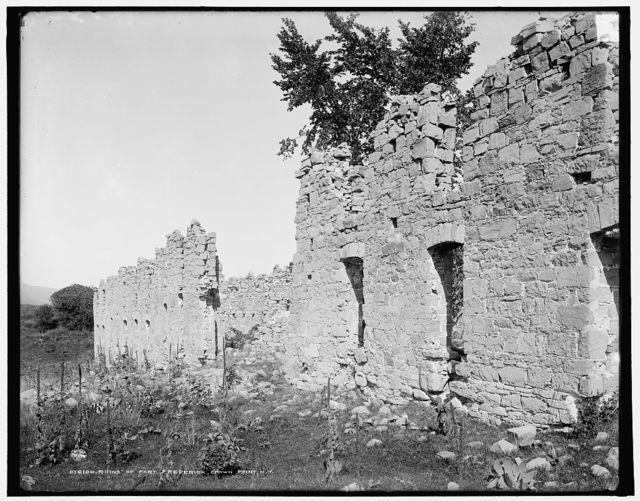 Ruins of Fort Frederick, Crown Point, N.Y.