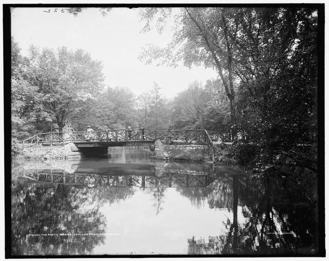 Rustic bridge, Schiller Park, Columbus, O[hio], The